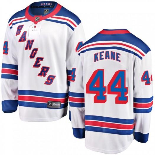 Joey Keane New York Rangers Men's Fanatics Branded White Breakaway Away Jersey