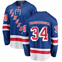 John Vanbiesbrouck New York Rangers Men's Fanatics Branded Blue Breakaway Home Jersey