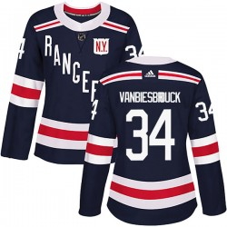John Vanbiesbrouck New York Rangers Women's Adidas Authentic Navy Blue 2018 Winter Classic Home Jersey