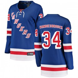 John Vanbiesbrouck New York Rangers Women's Fanatics Branded Blue Breakaway Home Jersey