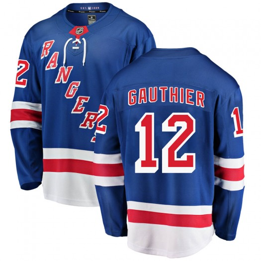 Julien Gauthier New York Rangers Men's Fanatics Branded Blue ized Breakaway Home Jersey
