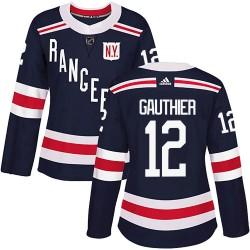 Julien Gauthier New York Rangers Women's Adidas Authentic Navy Blue ized 2018 Winter Classic Home Jersey
