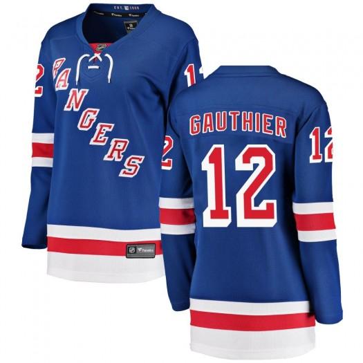 Julien Gauthier New York Rangers Women's Fanatics Branded Blue ized Breakaway Home Jersey