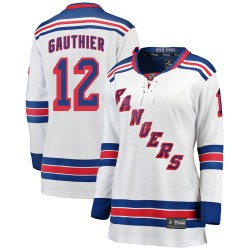 Julien Gauthier New York Rangers Women's Fanatics Branded White ized Breakaway Away Jersey