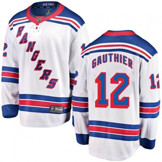 Julien Gauthier New York Rangers Youth Fanatics Branded White ized Breakaway Away Jersey