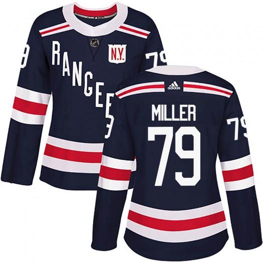 KAndre Miller New York Rangers Women's Adidas Authentic Navy Blue 2018 Winter Classic Home Jersey