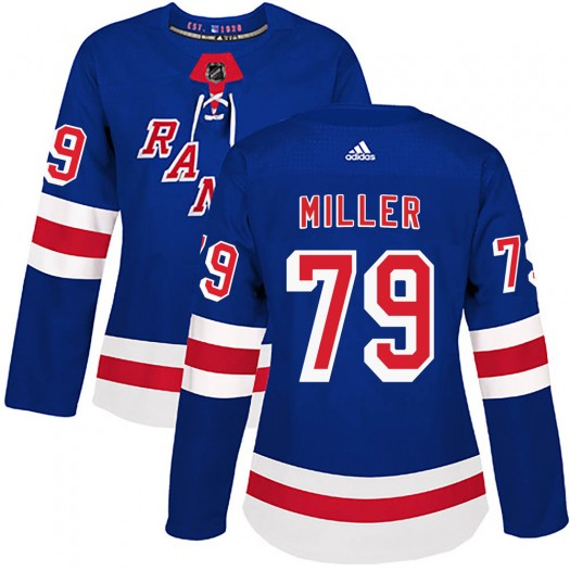 KAndre Miller New York Rangers Women's Adidas Authentic Royal Blue Home Jersey