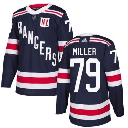 KAndre Miller New York Rangers Youth Adidas Authentic Navy Blue 2018 Winter Classic Home Jersey