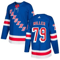 KAndre Miller New York Rangers Youth Adidas Authentic Royal Blue Home Jersey