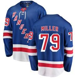 KAndre Miller New York Rangers Youth Fanatics Branded Blue Breakaway Home Jersey