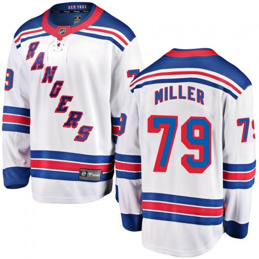 KAndre Miller New York Rangers Youth Fanatics Branded White Breakaway Away Jersey