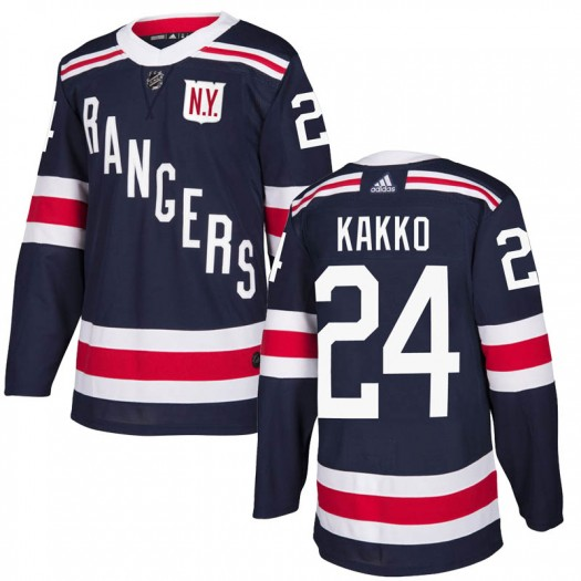 Kaapo Kakko New York Rangers Men's Adidas Authentic Navy Blue 2018 Winter Classic Home Jersey