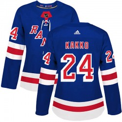 Kaapo Kakko New York Rangers Women's Adidas Authentic Royal Blue Home Jersey