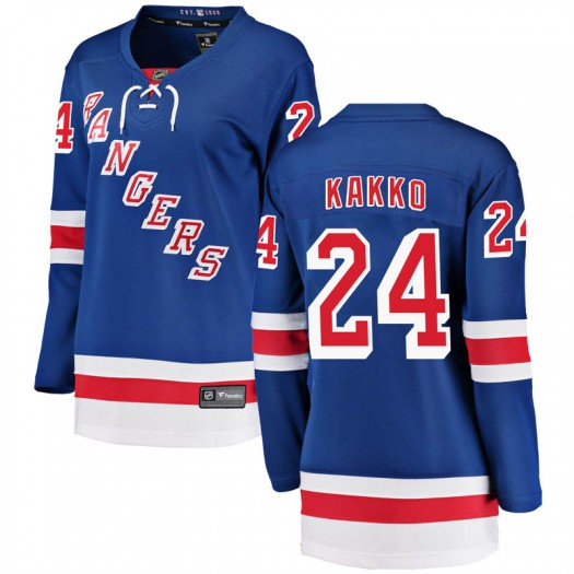 Kaapo Kakko New York Rangers Women's Fanatics Branded Blue Breakaway Home Jersey