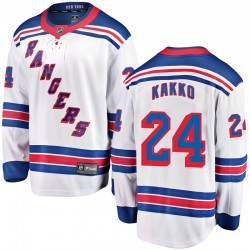 Kaapo Kakko New York Rangers Youth Fanatics Branded White Breakaway Away Jersey