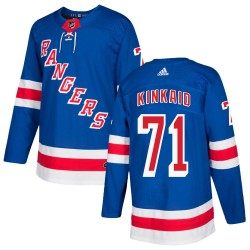 Keith Kinkaid New York Rangers Men's Adidas Authentic Royal Blue Home Jersey