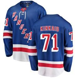 Keith Kinkaid New York Rangers Men's Fanatics Branded Blue Breakaway Home Jersey