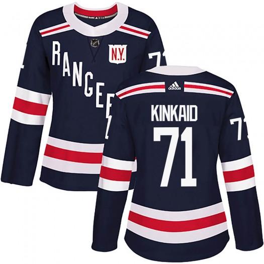 Keith Kinkaid New York Rangers Women's Adidas Authentic Navy Blue 2018 Winter Classic Home Jersey