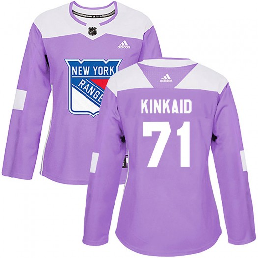 Keith Kinkaid New York Rangers Women's Adidas Authentic Purple Fights Cancer Practice Jersey