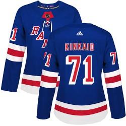 Keith Kinkaid New York Rangers Women's Adidas Authentic Royal Blue Home Jersey