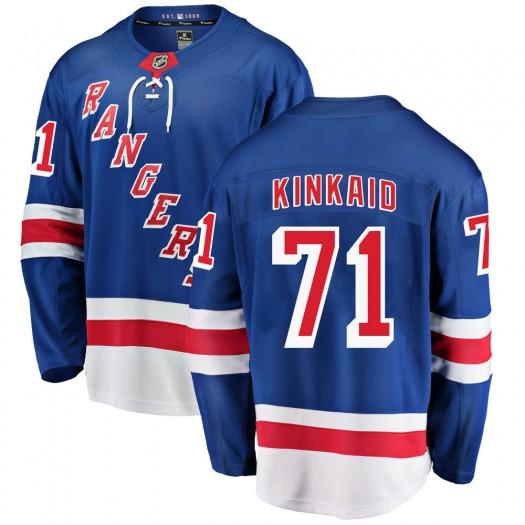 Keith Kinkaid New York Rangers Youth Fanatics Branded Blue Breakaway Home Jersey