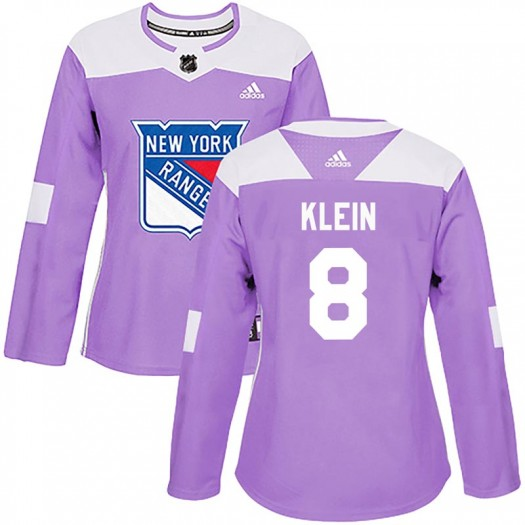 Kevin Klein New York Rangers Women's Adidas Authentic Purple Fights Cancer Practice Jersey