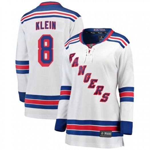 Kevin Klein New York Rangers Women's Fanatics Branded White Breakaway Away Jersey