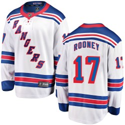 Kevin Rooney New York Rangers Youth Fanatics Branded White Breakaway Away Jersey