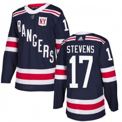 Kevin Stevens New York Rangers Men's Adidas Authentic Navy Blue 2018 Winter Classic Home Jersey