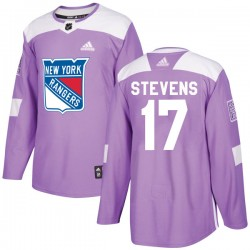 Kevin Stevens New York Rangers Men's Adidas Authentic Purple Fights Cancer Practice Jersey