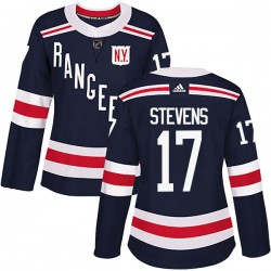 Kevin Stevens New York Rangers Women's Adidas Authentic Navy Blue 2018 Winter Classic Home Jersey