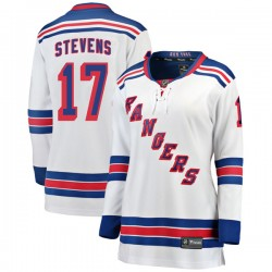 Kevin Stevens New York Rangers Women's Fanatics Branded White Breakaway Away Jersey