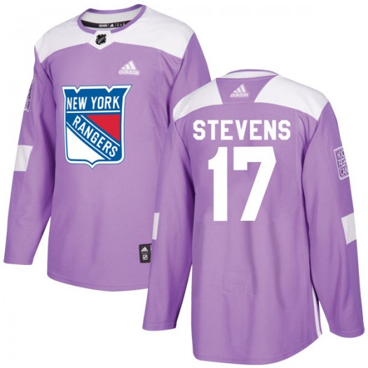 Kevin Stevens New York Rangers Youth Adidas Authentic Purple Fights Cancer Practice Jersey