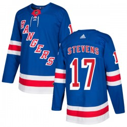 Kevin Stevens New York Rangers Youth Adidas Authentic Royal Blue Home Jersey