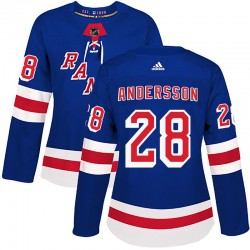 Lias Andersson New York Rangers Women's Adidas Authentic Royal Blue Home Jersey