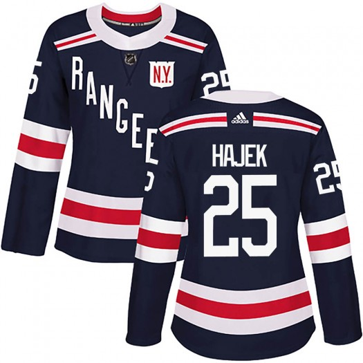 Libor Hajek New York Rangers Women's Adidas Authentic Navy Blue ized 2018 Winter Classic Home Jersey