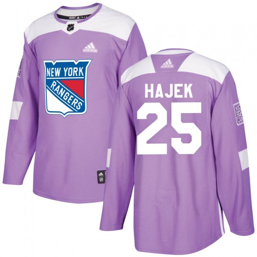 Libor Hajek New York Rangers Youth Adidas Authentic Purple ized Fights Cancer Practice Jersey