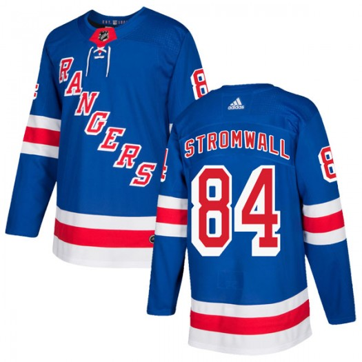 Malte Stromwall New York Rangers Youth Adidas Authentic Royal Blue Home Jersey