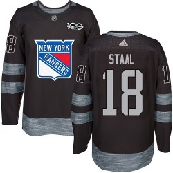 Marc Staal New York Rangers Men's Adidas Authentic Black 1917-2017 100th Anniversary Jersey
