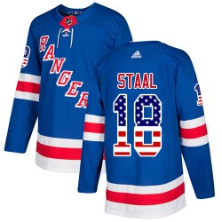 Marc Staal New York Rangers Men's Adidas Authentic Royal Blue USA Flag Fashion Jersey
