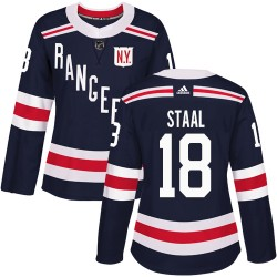 Marc Staal New York Rangers Women's Adidas Authentic Navy Blue 2018 Winter Classic Jersey