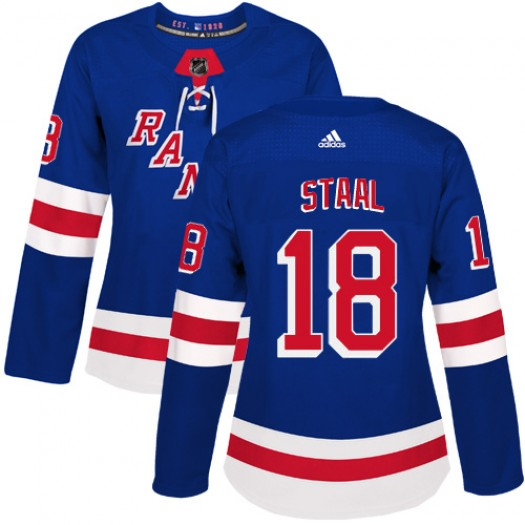 Marc Staal New York Rangers Women's Adidas Authentic Royal Blue Home Jersey