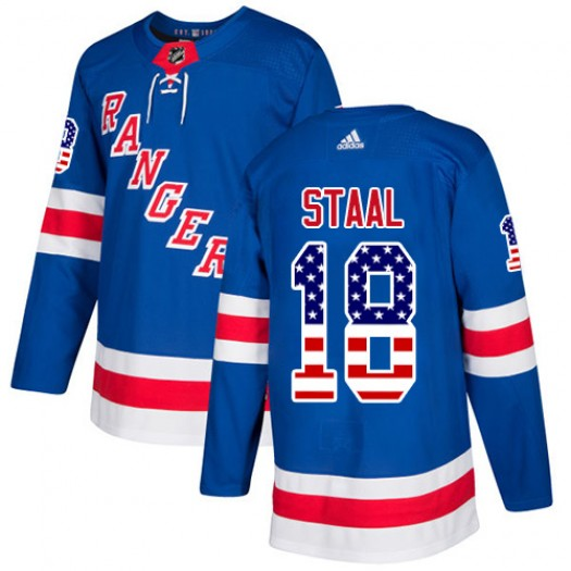 Marc Staal New York Rangers Youth Adidas Authentic Royal Blue USA Flag Fashion Jersey
