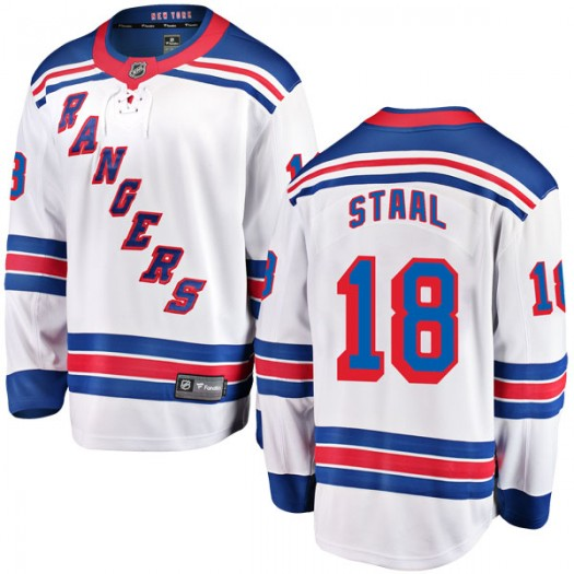 Marc Staal New York Rangers Youth Fanatics Branded White Breakaway Away Jersey