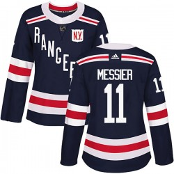 Mark Messier New York Rangers Women's Adidas Authentic Navy Blue 2018 Winter Classic Home Jersey