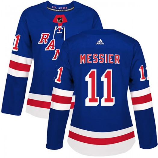 Mark Messier New York Rangers Women's Adidas Authentic Royal Blue Home Jersey