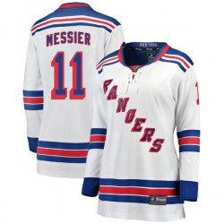 Mark Messier New York Rangers Women's Fanatics Branded White Breakaway Away Jersey