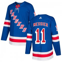 Mark Messier New York Rangers Youth Adidas Authentic Royal Blue Home Jersey