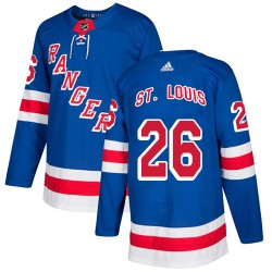 Martin St. Louis New York Rangers Youth Adidas Authentic Royal Blue Home Jersey