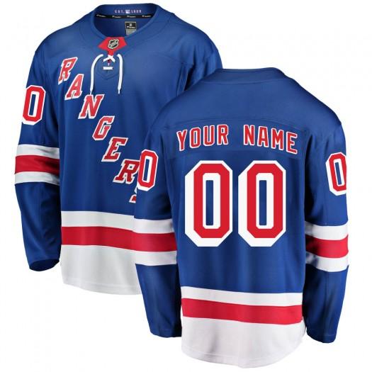 Men's Fanatics Branded New York Rangers Customized Breakaway Blue Home Jersey